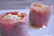 Figues au fromage de chèvre et jambon de parme