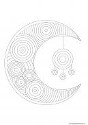 zentangle lune à imprimer