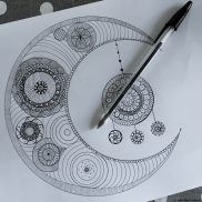 zentangle lune